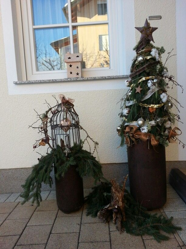 christmas decoration, selfmade tree, weihnachtsdeko, alles - decorative christmas trees