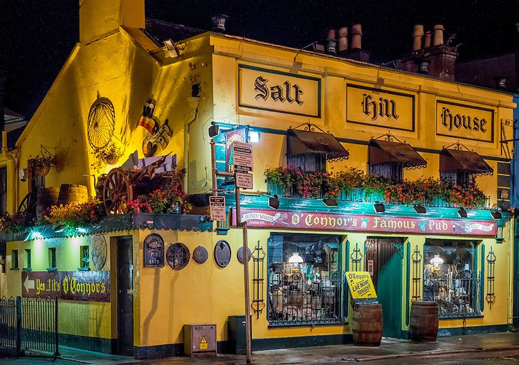 O'Connor's Pub, in the Salthill section of Galway, Ireland, seen at night ✯ ωнιмѕу ѕαη∂у