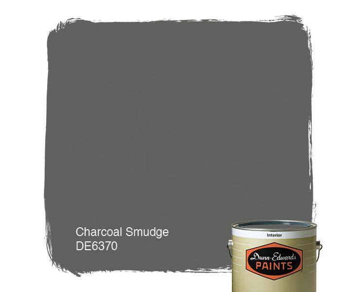 charcoal paint colorDunnEdwards Paints paint color Charcoal Smudge DE6370  Click