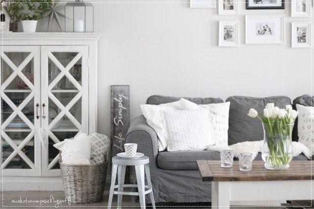 maalairomanttinen koti, sisustus, interior, Ikea Ektorp, olohuoneen sisustus