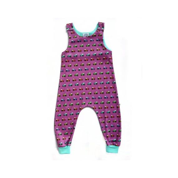 , Ready to Ship Tractor Organic Baby Romper, Dungarees, Toddler Romper, Toddler Dungarees, Baby Clothes, Kids Romper, My Babies Blog 2020, My Babies Blog 2020