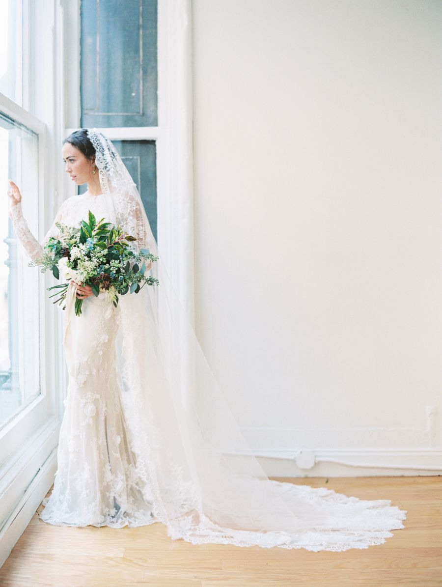 Photography : DArcy Benincosa Read More on SMP: http://www.stylemepretty.com/new-york-weddings/new-york-city/manhattan/2016/04/07/106-reasons-why-you-should-elope-in-a-nyc-library/