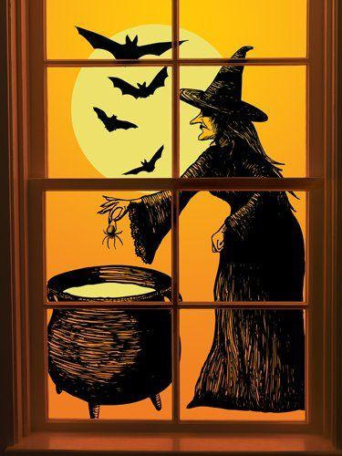 Martha Stewart Crafts - Elegant Witch Collection - Halloween - halloween window clings