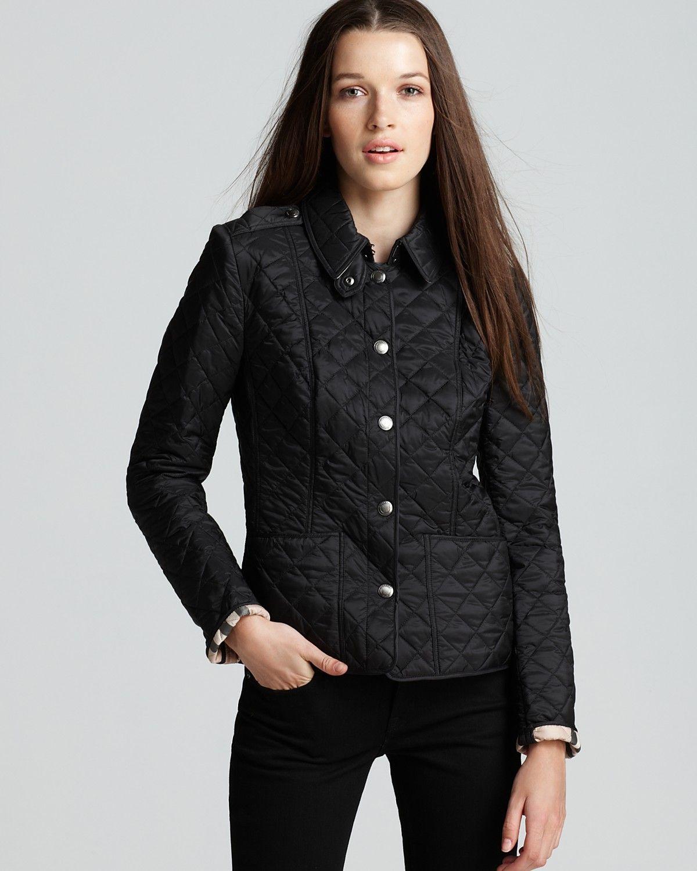 Burberry Brit Kencott Quilted Jacket Bloomingdale S Quilted Jacket Womens Quilted Jacket Black Quilted Jacket