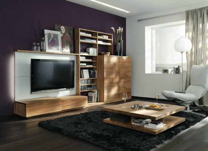 Purple White Wood Lounge Modern Home Interior Design Modern