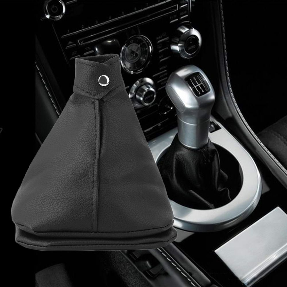 Hot SellingMini Pu Leather Rubber Gear Shift Collar Cover Shift Gear Lever Gaitor Boot Replacement For Ford for universal car