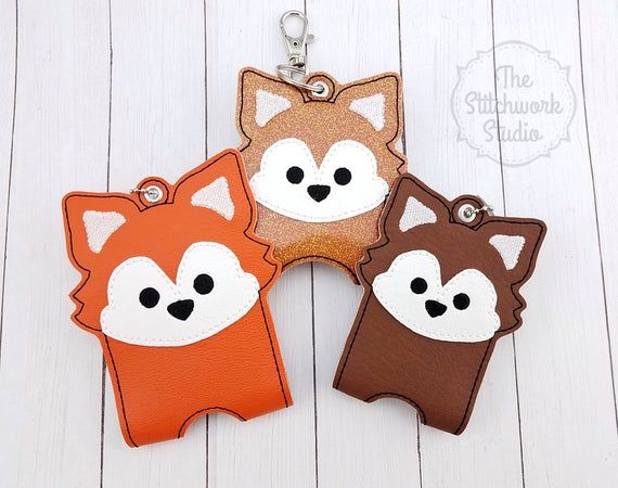Fox Hand Sanitizer Holder Sanitizer Case Travel Keychain