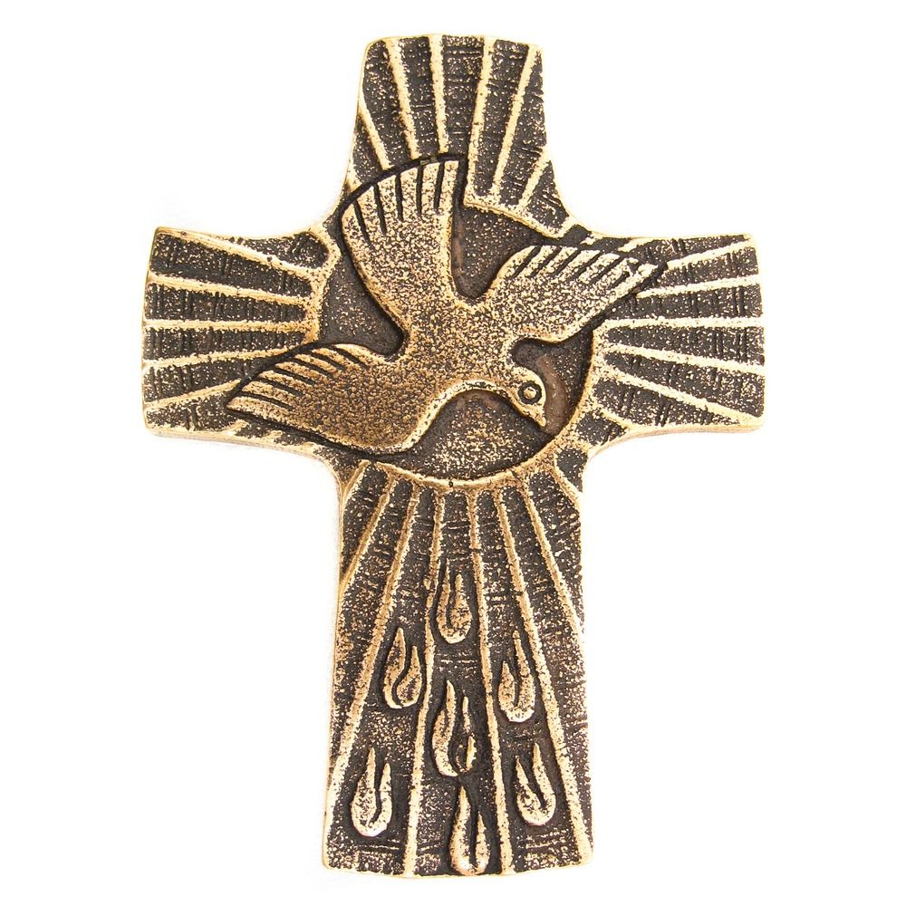 Gifts of the spirit bronze confirmation cross