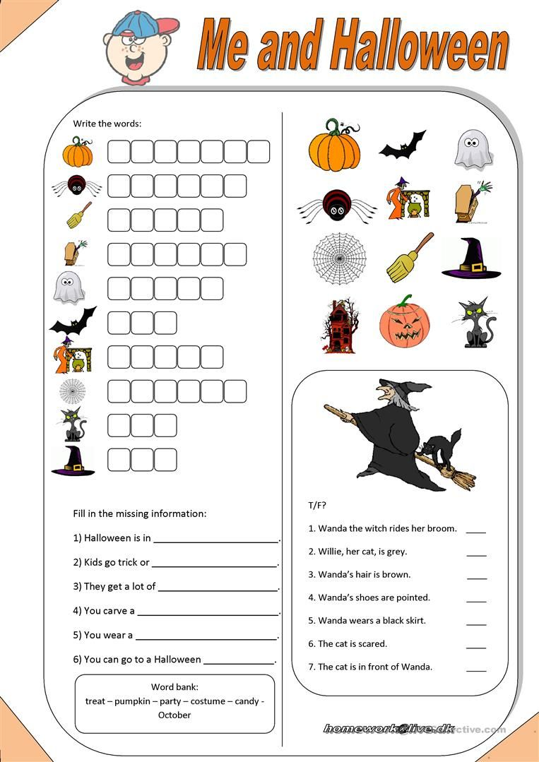 Free Halloween Rhyming Worksheet Pictures Misc Free