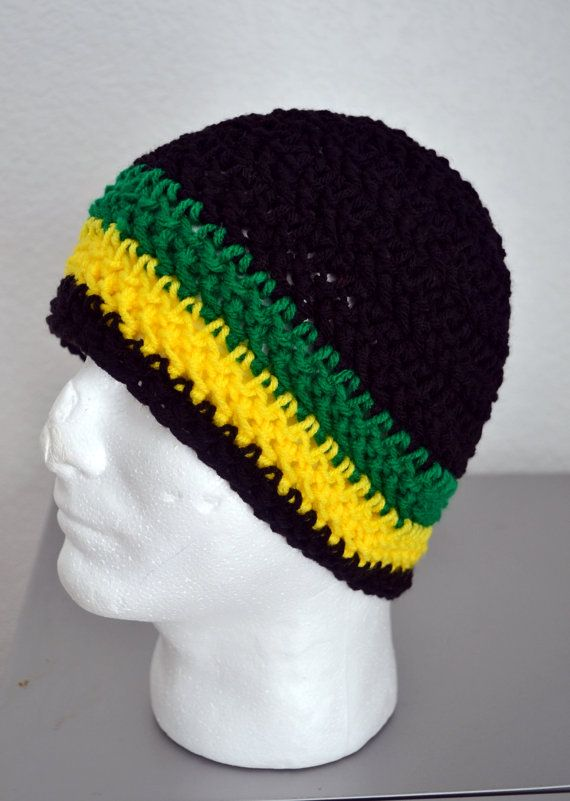 20c32513f36 Free US shipping. Men s Crochet Jamaican Skull cap. Crochet Beanie ...