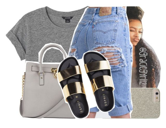 """"""""""" by graciegyrl12 ❤ liked on Polyvore featuring Monki, Case-Mate and Michael Kors"""