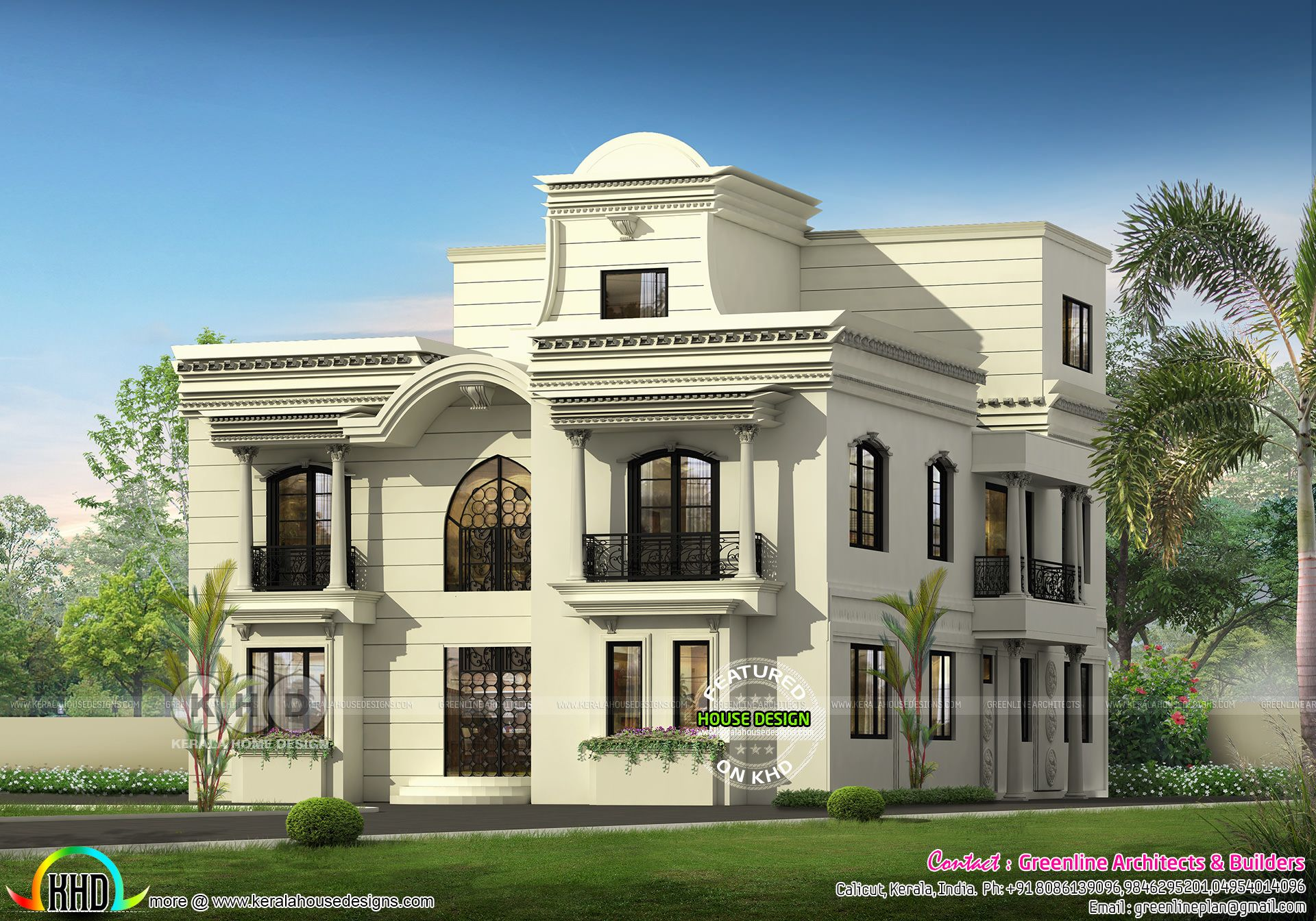 Luxury 5 Bedroom Colonial House Plan Colonial House Plans House Exterior House Designs Exterior