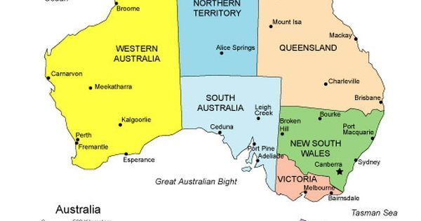 a map of australia clearly illustrating the states and territories and major cities australia is divided into 6 states including the island state of