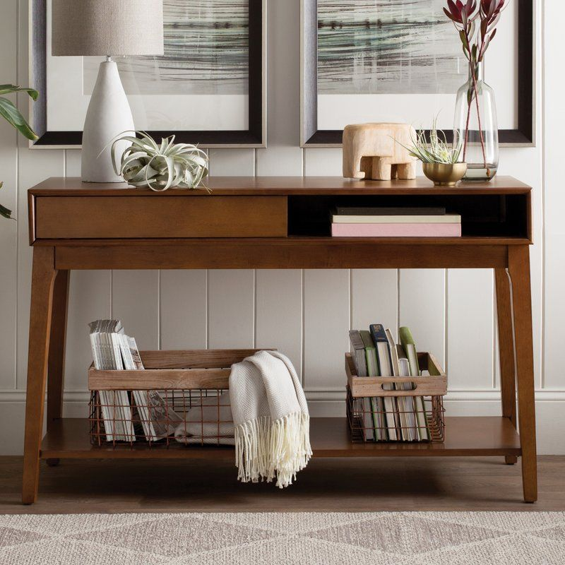 Modern Rustic Interiors Denzel Console Table Reviews Wayfair Contemporary Console Table Small Room Design Modern Console Tables