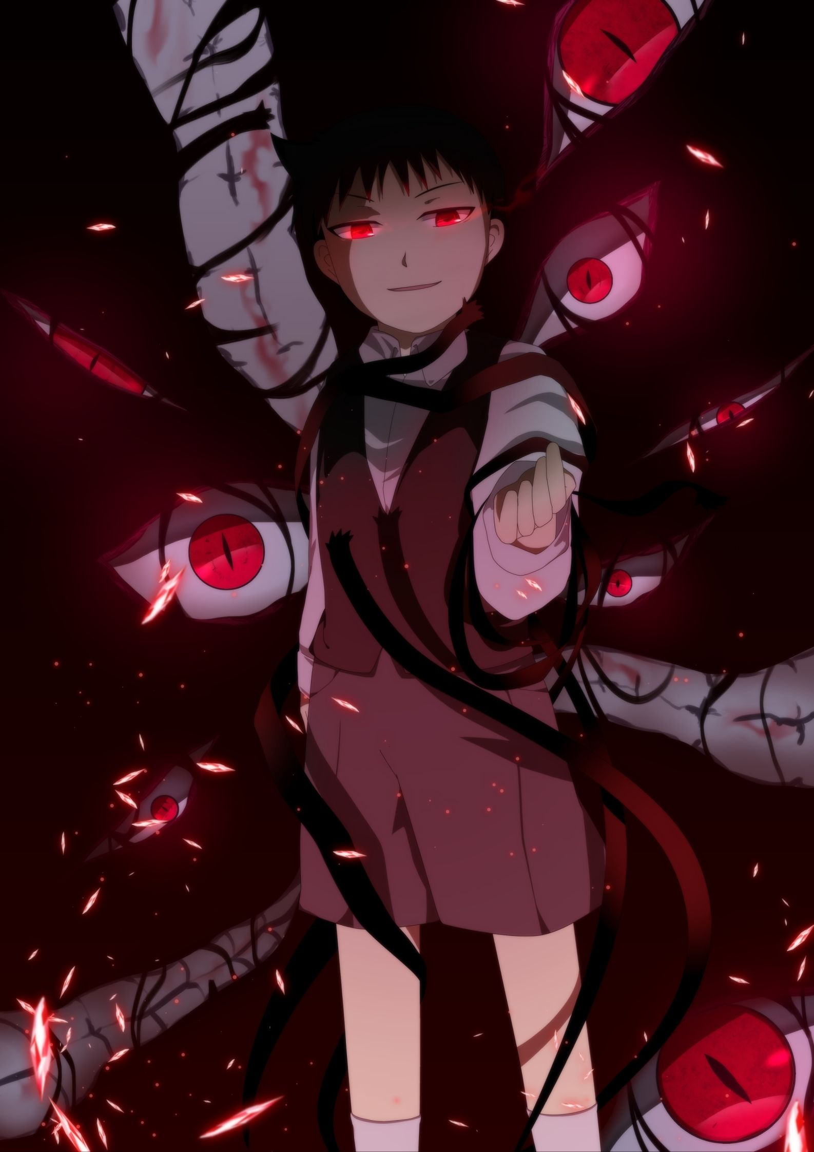 Its always the demonic little boy/girl/demon/homunculi that scares teh crap out of me 0: