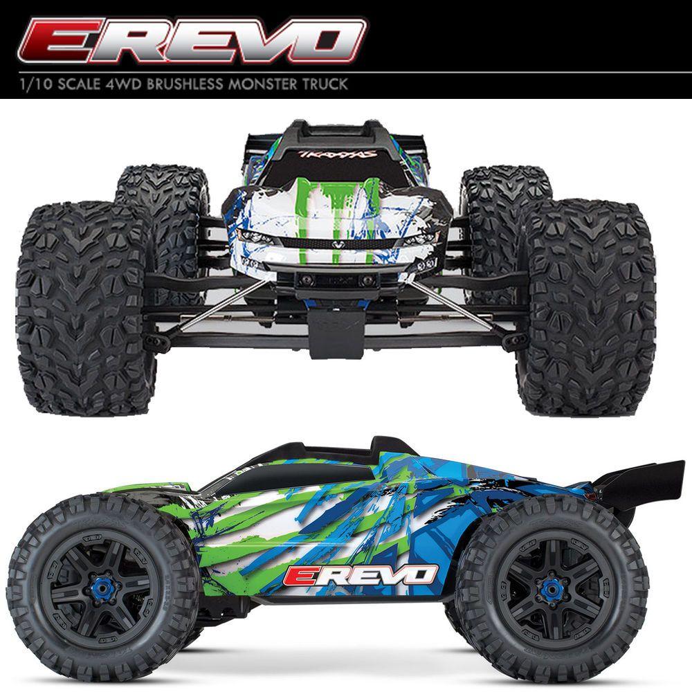 This Is A New Genuine Traxxas 1 10 E Revo Vxl 2 0 4wd Brushless Monster Truck Rtr Grn W Tqi Radio Tsm Model 86086 4 1 10 Scal Monster Trucks Traxxas E Revo