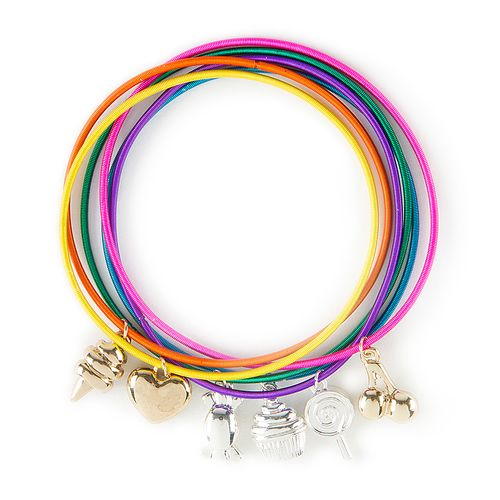Dylan's Candy Bar Charm Bracelets Set of 6 | Claire's
