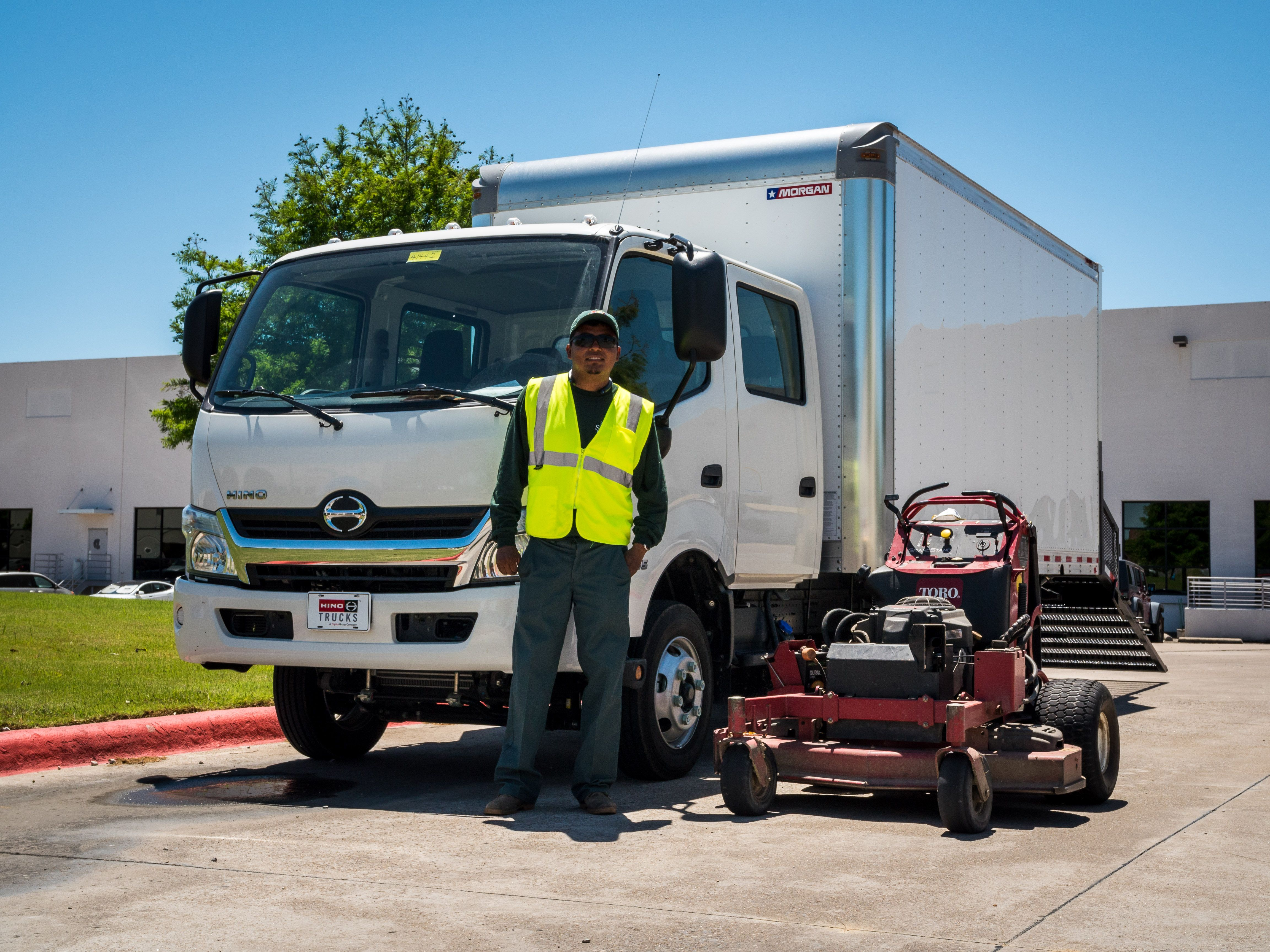 Custom Hino 155dc Landscape Truck Ideas Landscaping Contracting Landscapedesign Trucks Landscaping Equipment Used Trucks Trucks