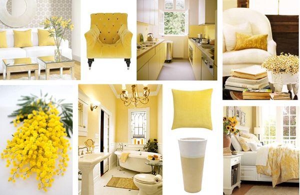 Lemon Sorbet Benjamin Moore lemon sorbet collage, #barbara rainmaker, #benjamin moore