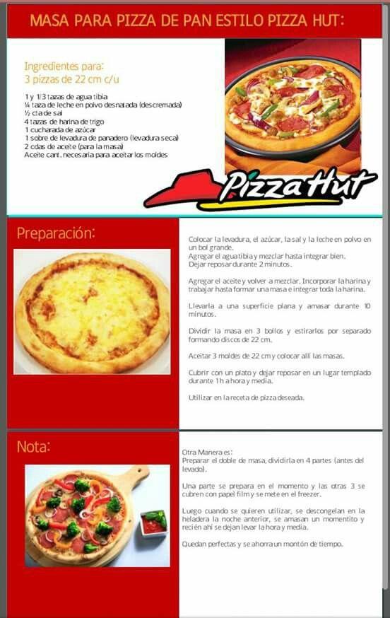 Masa tipo pizza hut | Cocina | Pinterest | Pizzas, Bread cake and Cake