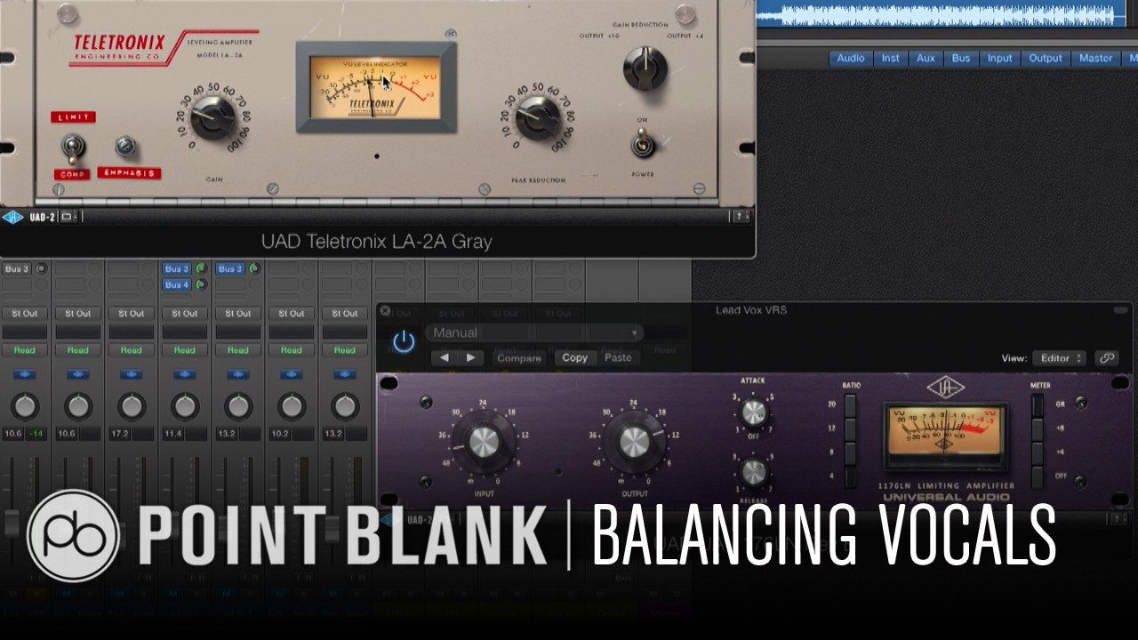 Point Blank Balancing Vocals in the Mix Music