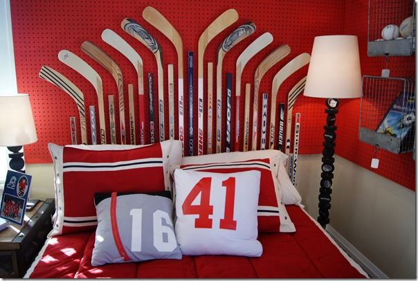 10 Cool Canadian Icons Ideas For The Home Setting For 4 Sport Bedroom Hockey Themed Room Boys Room Design