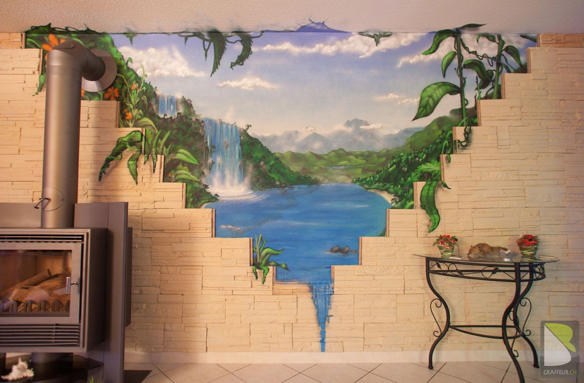 trompe l 39 oeil baro graffiti artist suisse projets. Black Bedroom Furniture Sets. Home Design Ideas