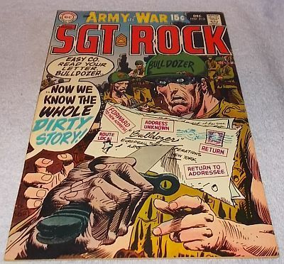 DC Comic Our Army at War with Sgt Rock No 213 Kubert Art VF.......12.95