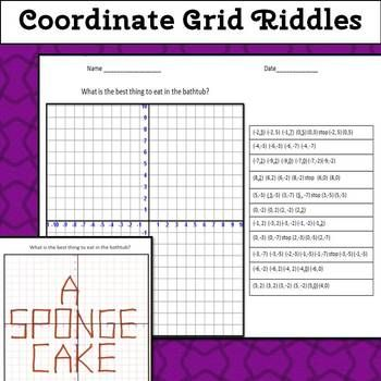 Coordinate Grid Riddles (Four Quadrants) 6.NS.6c