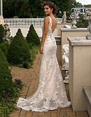 Allover Beaded Lace Mermaid Gown