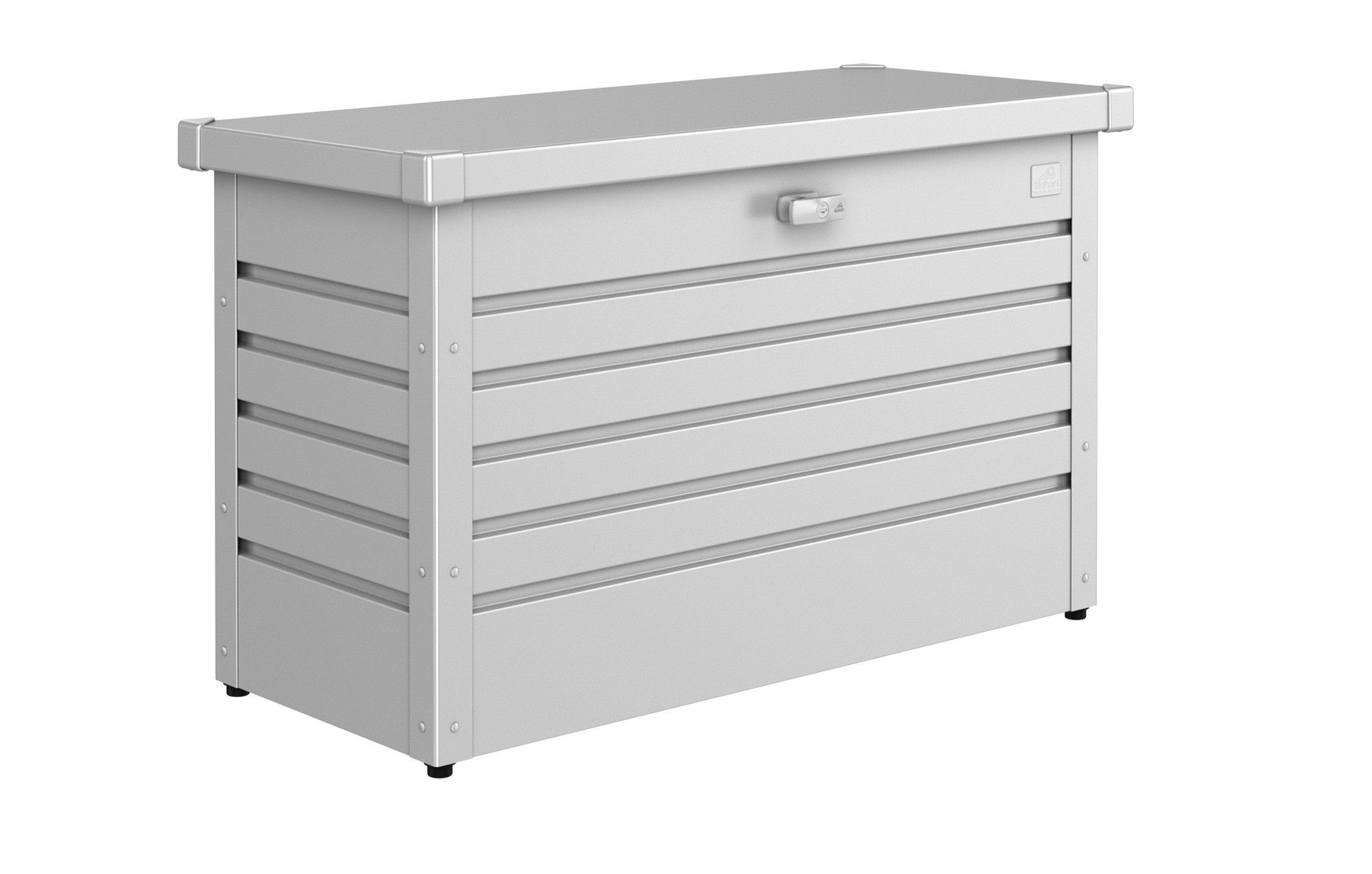 Metallic Silver Metal Shed Storage Timber