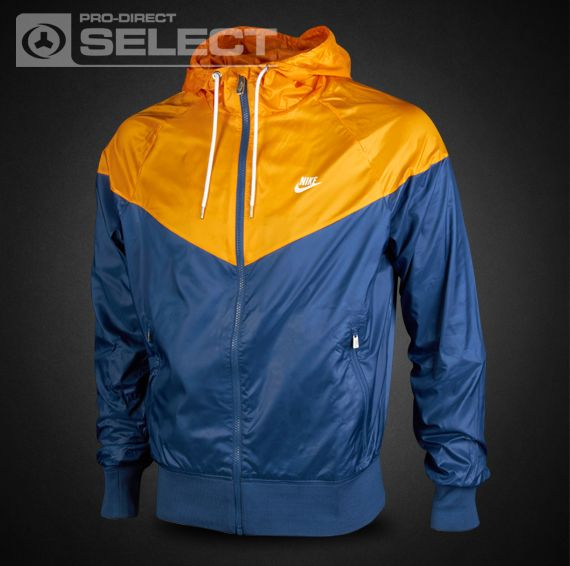 fb38f9f92594 Nike Clothing - The Windrunner - Mens Clothing - Utility Blue-Canyon  Gold-White