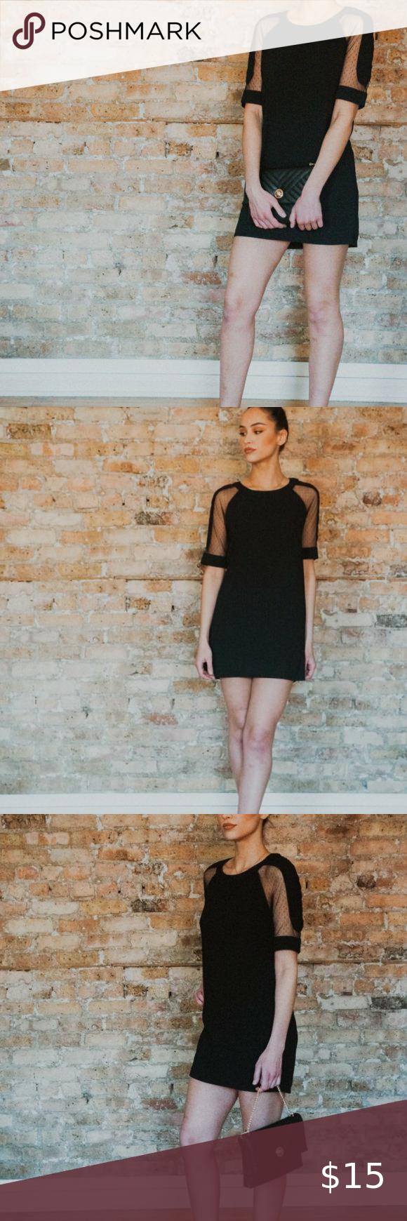 Sheer Sleeve Black Mini T Shirt Dress Mini Tshirt Dress Knit Skater Dress Cocktail Dress Lace [ 1740 x 580 Pixel ]