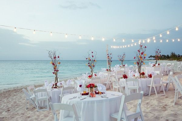Tropical Caribbean Beach Wedding Wedding Reception Decor