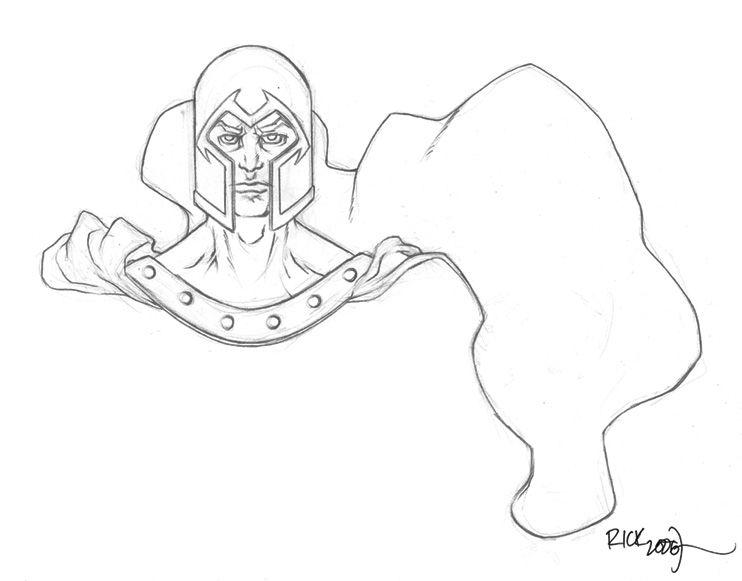 X Men Magneto By Rick Cortes Coloring Pages Pinterest