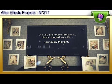 217 مشروع افترافكت مجاني قالب خرافي رائع لعرض الصور والنصوص للافتر افكت Cs4 After Effects Projects Projects Thoughts
