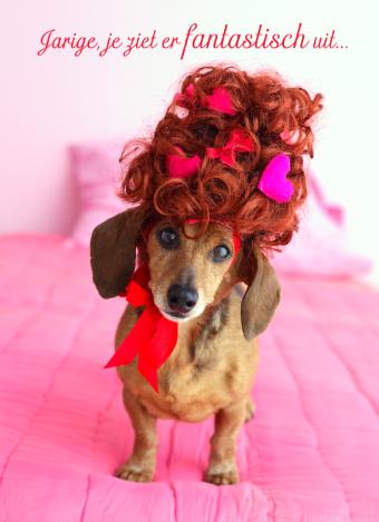 verjaardag vrouw hondje