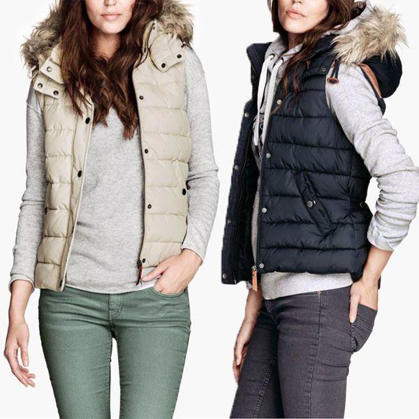 hollister body warmer womens