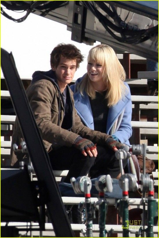Peter Parker (Andrew Garfield) and Gwen Stacy (Emma Stone) together in the Spider-Man movie reboot.