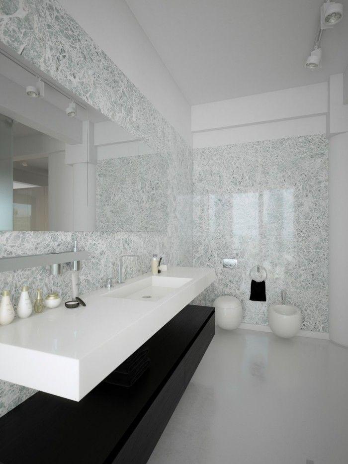 Le carrelage en marbre en 42 photos salle de bain - Carrelage salle de bains design ...