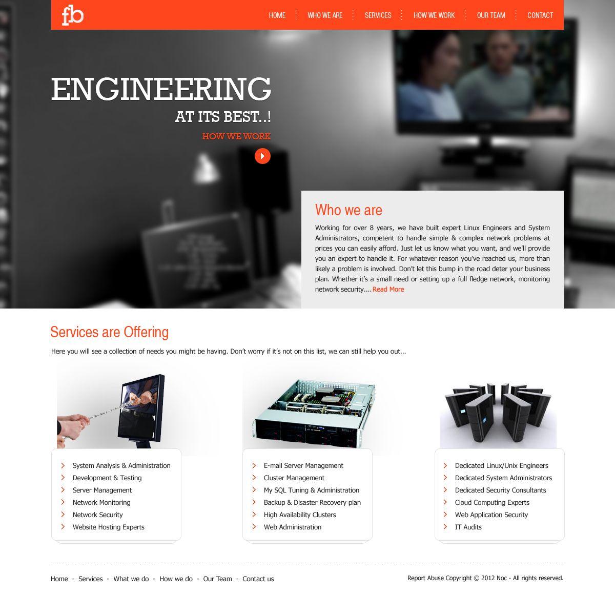 company website design template