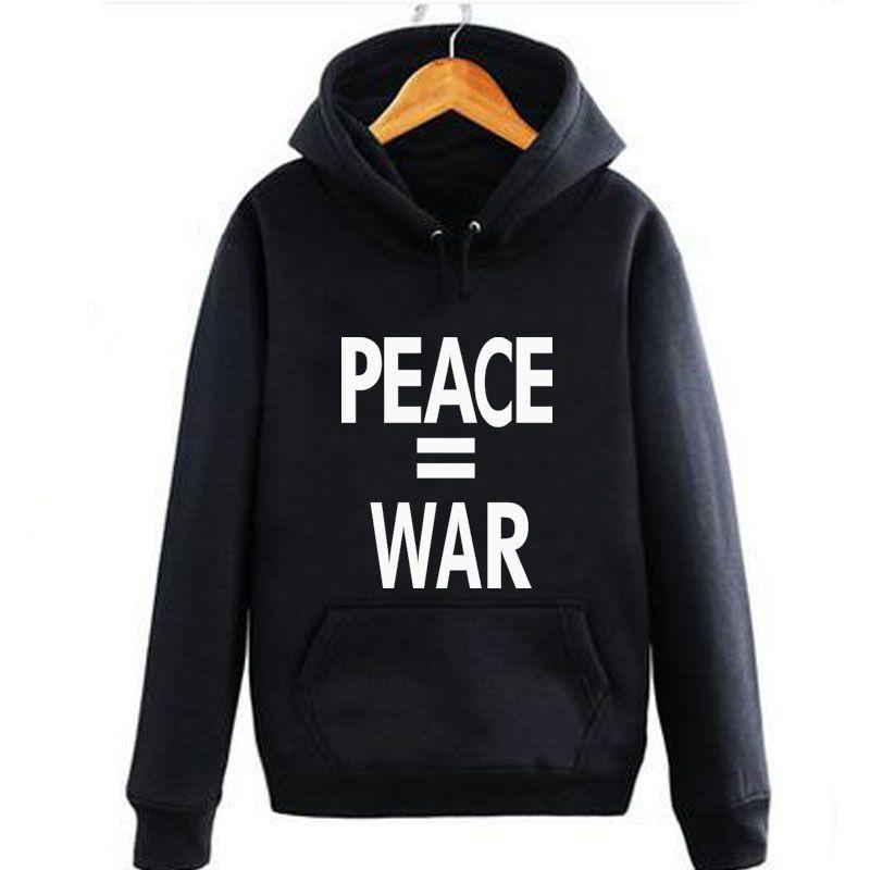 defend paris ak47 Hoodie Skate Hip Hop Sweatshirt Men