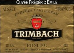 2000 Trimbach Riesling Cuvee Frederic Emile