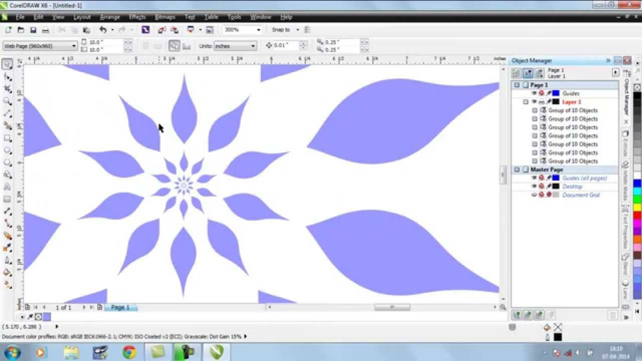 Corel draw vs photoshop for t shirt design - Creating Flower In Corel Draw With Line Ans Shape Tool By Converting Line In To Curve And Adjusting Curve And Nodes Then Rotate Copying Them