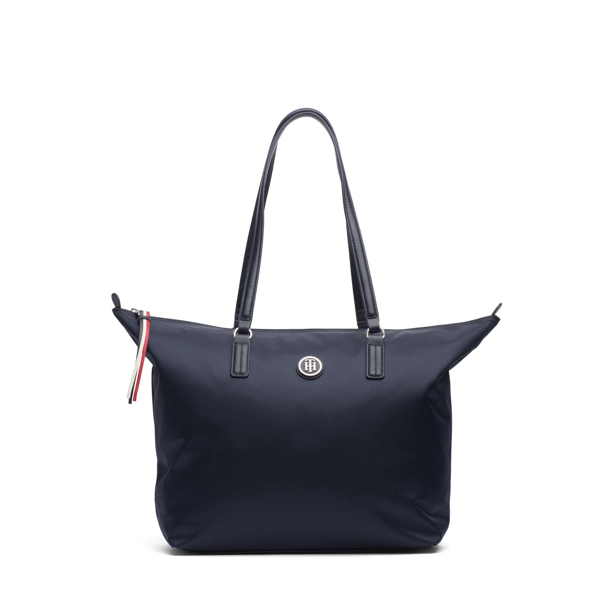 5297ae137741b TOMMY HILFIGER SIGNATURE TOTE - TOMMY NAVY.  tommyhilfiger  bags  hand bags   nylon  tote