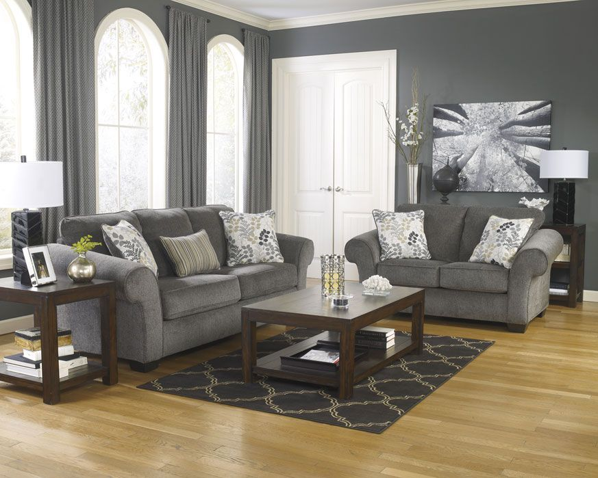 Room · Sofa U0026 Loveseat Set 78000 SL Makonnen Charcoal, Furniture Factory  Direct Living Room Part 91