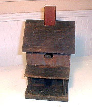 Primitive Country Bird House Rustic Folk Art
