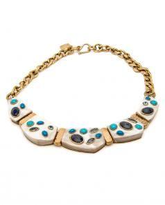 Ashley Pittman Jasiri Light Horn Collar Necklace 7PKfPl06L