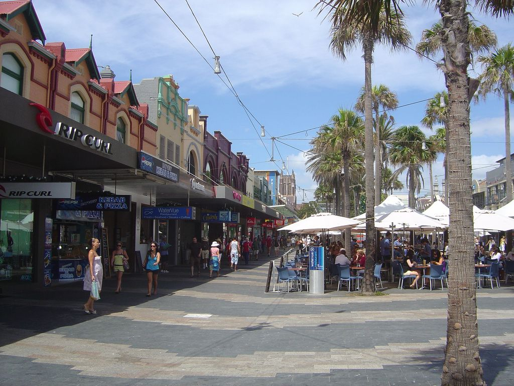 The Corso in Manly Beach ,Sydney Australia