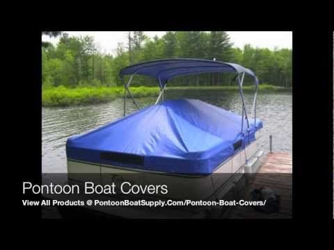 Pontoon Boat Covers With Snaps And Support System For